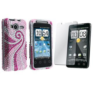 Phoenix Tail Diamond Case/ Screen Protector for HTC EVO Shift 4G