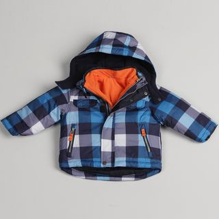 Carters Toddler Boys Blue Plaid Systems Jacket
