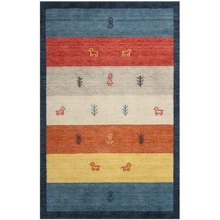 Handmade Gabeh Journey Bluel Wool Rug