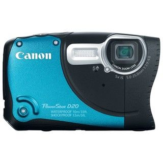 Canon PowerShot D20 12.1MP Waterproof Blue Digital Camera