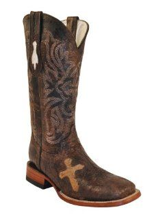 Ferrini Cowhide Cross Vamp Cowgirl Boots: Shoes