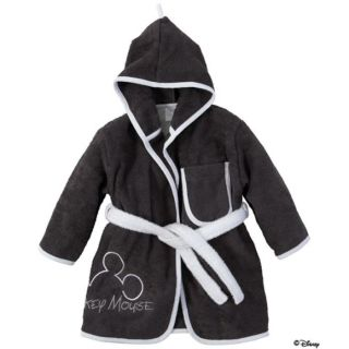 Bebe jou Peignoir de bain 86/92 Mickey Mouse anthracite   Peignoir de