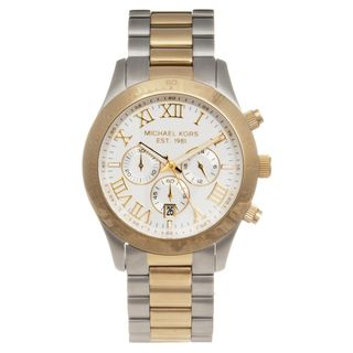 Michael Kors Mens Two tone Steel Layton Chronograph Watch