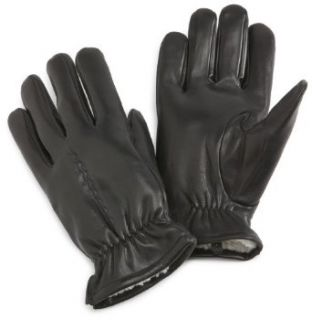 Isotoner Mens Isotoner Leather Glove With One Draw With