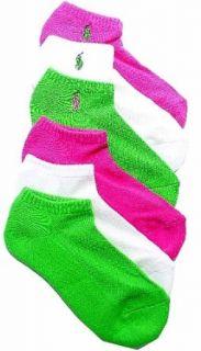 Polo Ralph Lauren Ladies 6 Pack Classic Sport Socks Sz 9