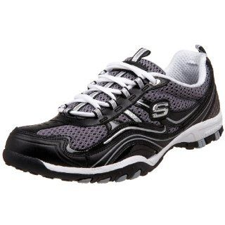 Skechers Womens Soulful Two Tone Sport Shoe,Black/Grey,5 M US Shoes