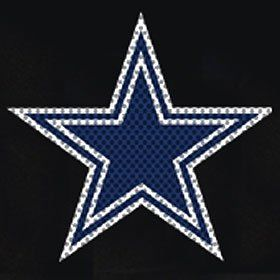 Dallas Cowboys Die Cut Window Film   Large Sports