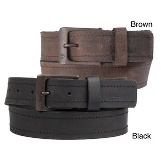 Timberland Mens Casual Topstitched Genuine Leather Belt