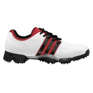 Adidas Mens Greenstar White/ Red/ Black Golf Shoes