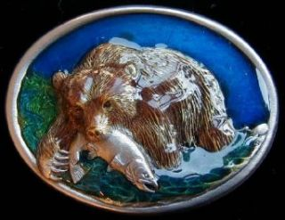Grizzly Colored Belt Buckle Clothing