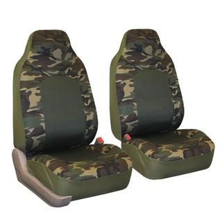 FH Group Camouflage Airbag compatible Front Bucket Seat Covers (Set of