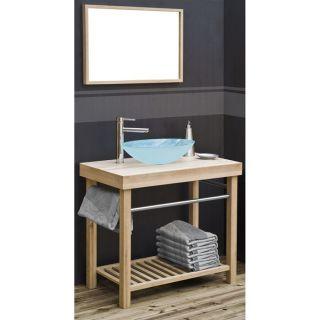 Double evier de salle de bain en pierre bleue vasque en pierre for Kit meuble salle de bain