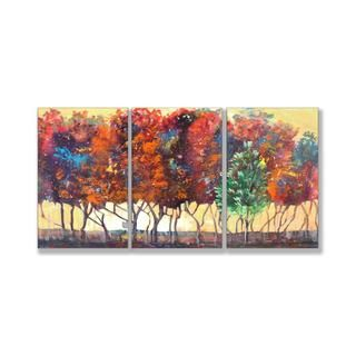Jean Plout Enchanted Forest Triptych Art