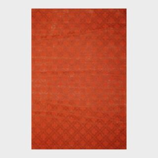 Indo Hand tufted Flat Weave Rust/ Burgundy Kilim Rug (56 x 8