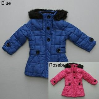 KC Collection Girls Box Quilt Puffy Coat FINAL SALE