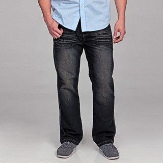 MO7 Mens Dark Indigo Denim Jeans