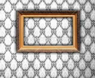 Blank Frame on Vintage Wallpaper  Foto stock © Digifuture #1164387
