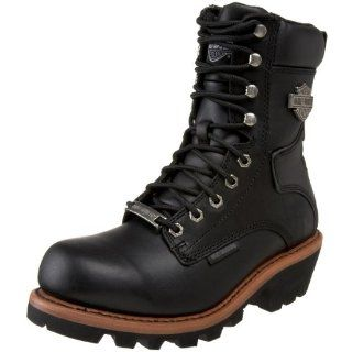 Harley Davidson Mens Tyson Logger Boot,Black,7 M US Shoes