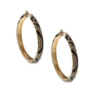 ABS by Allen Schwartz Gone Wild Hoop Earrings