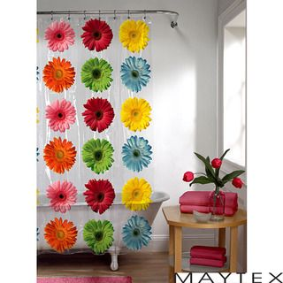 Maytex Gerber Daisy Shower Curtain
