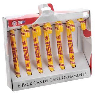 Arizona State Sun Devils Plastic Candy Cane Ornament Set