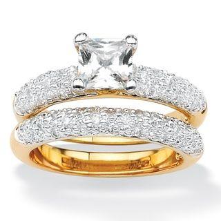 Ultimate CZ Cubic Zirconia Wedding Ring Set