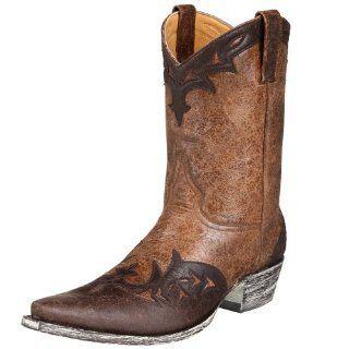 Old Gringo Mens Obregon Fashion Cowboy Boot,Tan/Choc.,7.5 D US Shoes