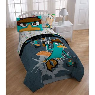 Disney Phineas & Ferb Agent P Twin size Bed in a Bag with Sheet Set