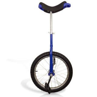 16 Unicycle Blue Chrome Unicycle Wheel Cycling Sports