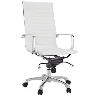 Malibu High back White Vinyl Office Chair