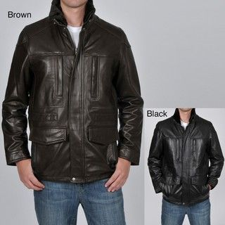 Knoles & Carter Mens Faux Fur lined Leather Jacket