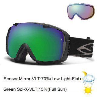 Smith Optics I/O Goggle (Black Frame, Green Sol X Mirror