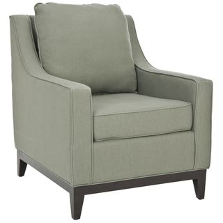 Uptown Linen Green Grey Club Chair