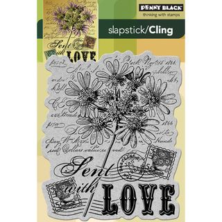 Penny Black Cling Rubber Stamp 4X6 Sent With Love