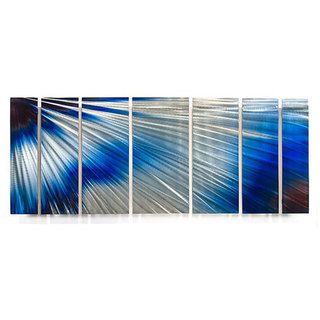 Ash Carl Brightness 7 panel Abstract Metal Wall Art