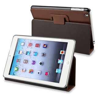 BasAcc Brown Leather Case with Stand for Apple® iPad Mini