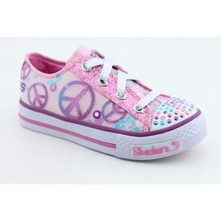 Skechers Twinkle Toes Girls Shuffles Lovable Basic Textile Casual