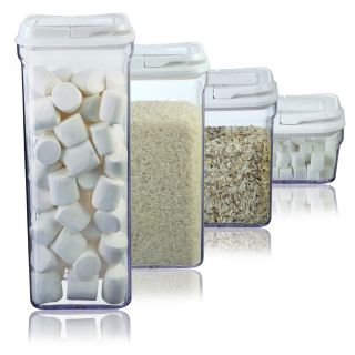 Art and Cook White 4 piece Storage Container Set
