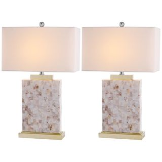 Indoor 1 light Tory Sea Shell Table Lamps (Set of 2)