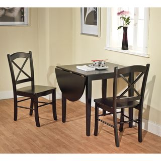 Black 3 piece Country Cottage Dining Set