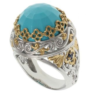 Michael Valitutti Two tone Blue Turquoise Ring