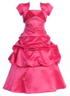 Wonder Girl Trinity Dull Satin Long Tea Length Girls Dress