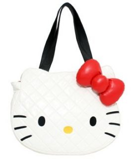 Hello Kitty White Quilted Face Tote Bag SANTB0209