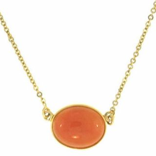 Mason Kay 14k Yellow Gold Red Jade Necklace