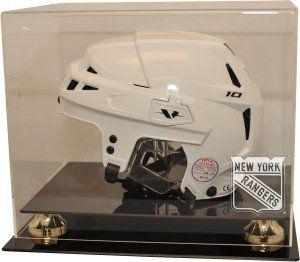 New York Rangers Full Size Hockey Helmet Display Case