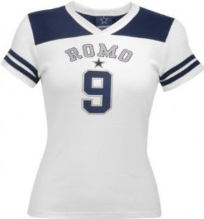 Tony Romo Retro Jersey Dallas Cowboys Womens Tee   Medium