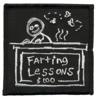 Farting Lesson Patch Clothing
