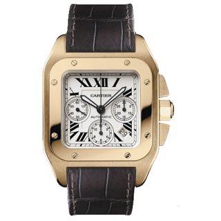 Cartier Santos 100 Rose Gold Mens Watch