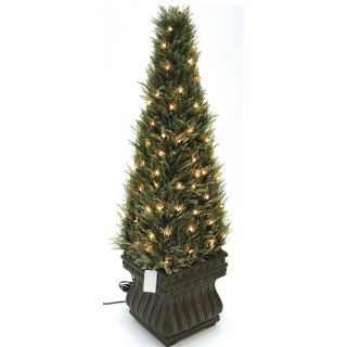 Good Tidings Topiary Cypress Obelisk 100 Light Tree