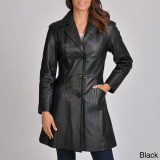 Excelled Womens Leather Walker Coat